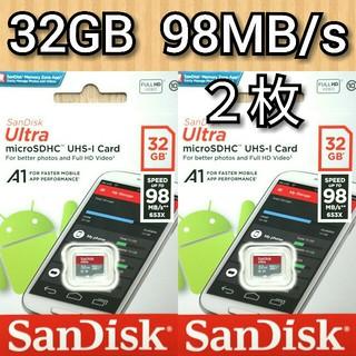 SanDisk - 2枚セット サンディスク microSDカード 32GB