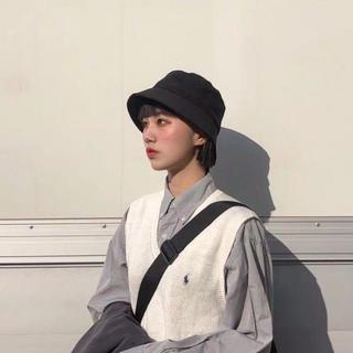 【新品】 バケットハット 無地 黒 オールシーズン 韓国ファッション