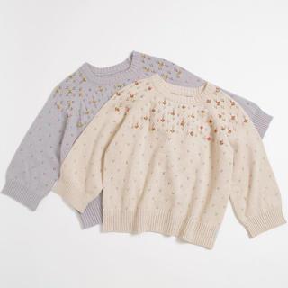 クリスプ(Crisp)のCrisp:花刺繍ニット(ニット/セーター)