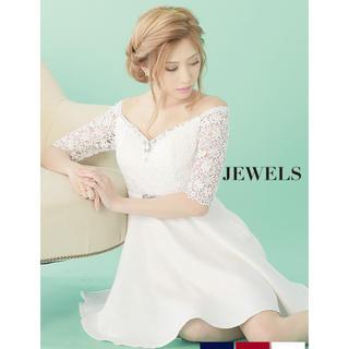 JEWELS - 女の子らしさUP💕 レース スリーブ フレア ワンピース