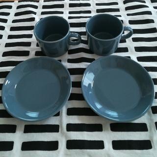 イッタラ(iittala)のイッタラ ティーマ コーヒーカップ&ソーサー グレー(食器)