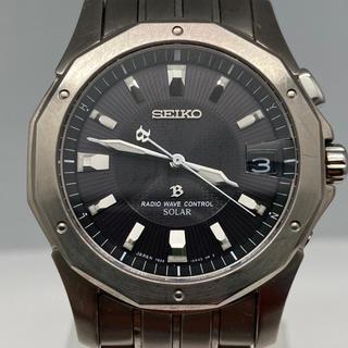 セイコー(SEIKO)のセイコーブライツ電波ソーラーメンズ 腕時計 7B22-0AC0(腕時計(アナログ))