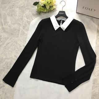 FOXEY - 美品 フォクシー FOXEY 白襟 ニット トップス セーター 40