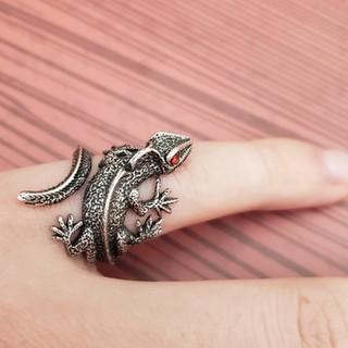カメレオン リング 指輪 フリーサイズ(リング(指輪))