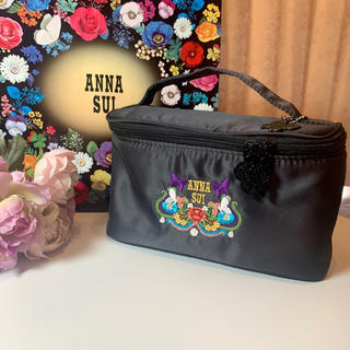 ANNA SUI - ANNA SUI アナスイ メイクポーチ バニティポーチ ショッピングバッグ付き