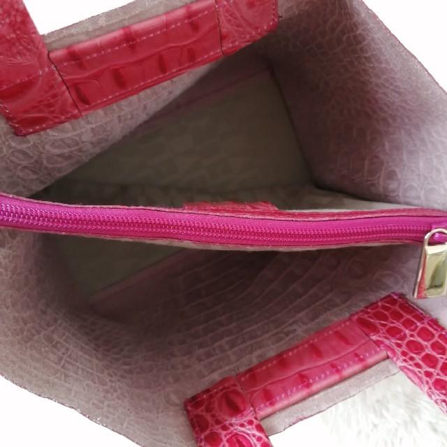 Furla(フルラ)の美品♥フルラ✨FURLA♥ハンドバッグ✨クロコ型押し❤ピンク✨ 112 レディースのバッグ(ハンドバッグ)の商品写真