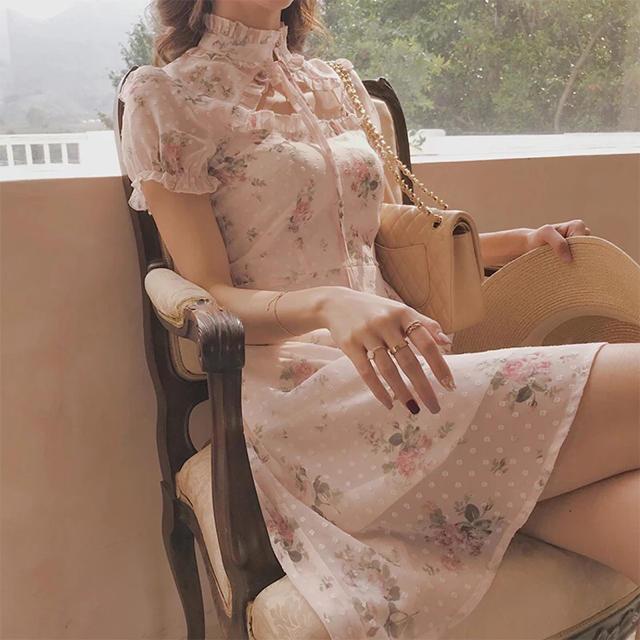 EATME(イートミー)のチャイナ襟❇︎ロリータワンピース レディースのワンピース(ひざ丈ワンピース)の商品写真