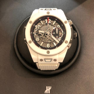 ウブロ(HUBLOT)の正規品HUBLOT ウブロ ビッグバン ウニコ ホワイトセラミック 裏スケ (腕時計(アナログ))