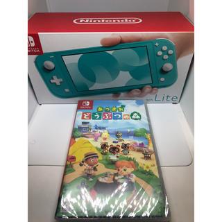 Nintendo Switch - [新品] 任天堂スイッチライト ターコイズ どうぶつの森セット
