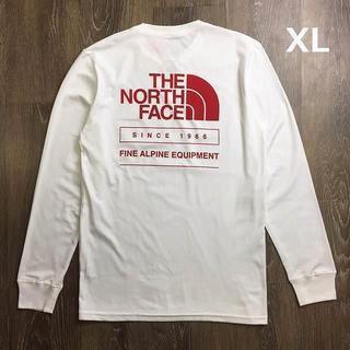 THE NORTH FACE - 売切!ノースフェイス長袖Tシャツ 1966バックプリント(XL)白 180902