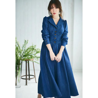 snidel - Her lip to Lace Belted Denim Dress Mサイズ