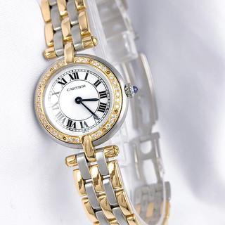 Cartier - 【OH/仕上済】カルティエ パンテール ラウンド ダイヤ レディース 腕時計