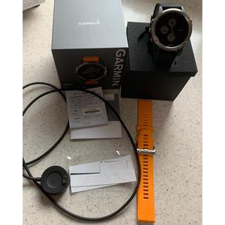 ガーミン(GARMIN)のgarmin fenix5plus ti glayサファイア 美品 おまけ付き(腕時計(デジタル))