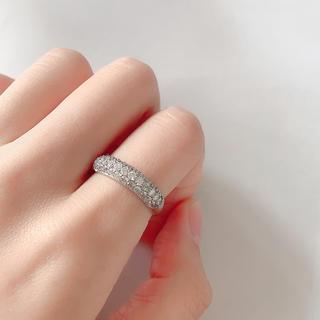 新品 k18wg ダイヤモンドリング(リング(指輪))