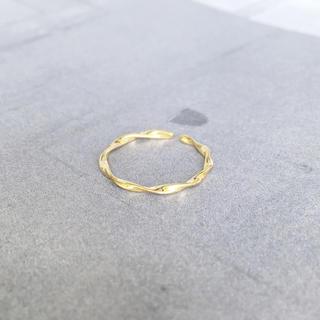 トゥデイフル(TODAYFUL)の再販【silver925×18kコーティング】華奢なツイスト リング(リング(指輪))