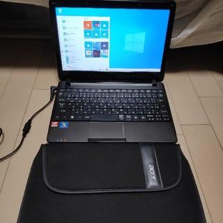 エイサー(Acer)の高速ssd 軽量 薄型 acer ノートパソコン  オフィス搭載 ケース付属(ノートPC)
