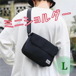 ショルダーバッグ サコッシュ ボディ バッグ ストリート 男女兼用 ブラック L(ショルダーバッグ)