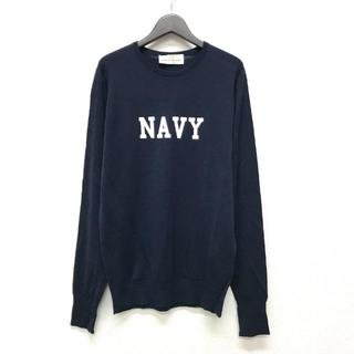 uniform experiment - uniform experiment JOHN SMEDLEY NAVY ニット