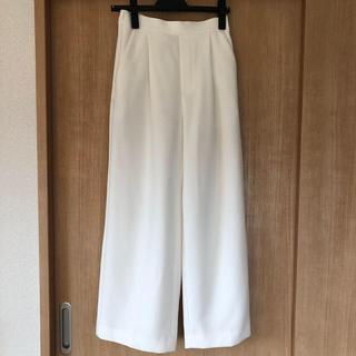 ENFOLD - ENFOLD  ワイドパンツ ホワイト 36サイズ