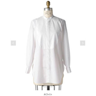 Drawer - drawer ドゥロワー スタンドカラーロングシャツ