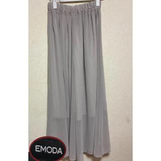 EMODA - ・EMODA・シフォンロング・スカーチョ・パンツ