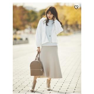 ユニクロ(UNIQLO)のUNIQLO/3Dコットンフレアミディスカート(ひざ丈スカート)