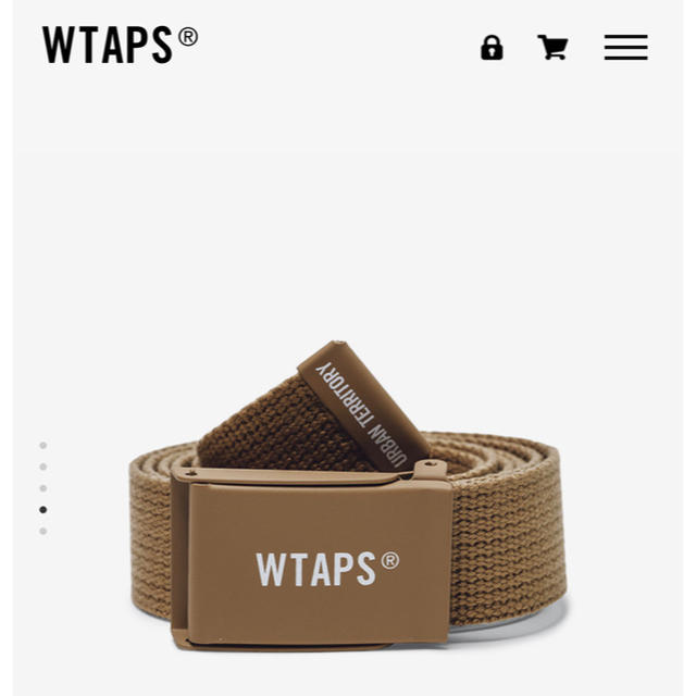 W)taps(ダブルタップス)の 20SS WTAPS GIB BELT BROWN メンズのファッション小物(ベルト)の商品写真