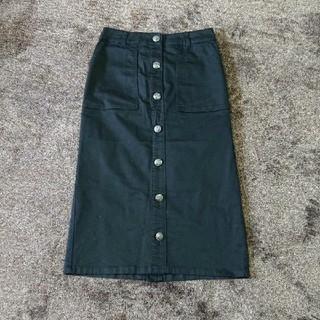 HONEYS - ロング タイト スカート 前ボタン 黒 ブラック ストレッチ