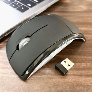 ☆折りたたみ式☆ ワイヤレス マウス 光学無線式 ブラック