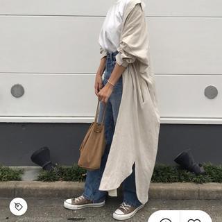 TODAYFUL - 麻混素材ロングシャツ 最終値下げ