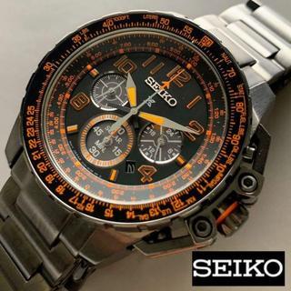 セイコー(SEIKO)の【新品即納】seiko プロスペックス クロノグラフ ソーラー パイロット(腕時計(アナログ))