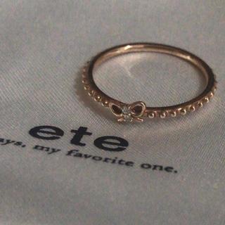 エテ(ete)のete エテ k10 ダイヤモンド リボンリング(リング(指輪))