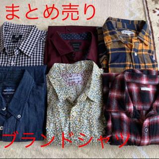 ブラウニー(BROWNY)のメンズ シャツまとめ売り ブランドシャツ チェックシャツ(Tシャツ/カットソー(七分/長袖))
