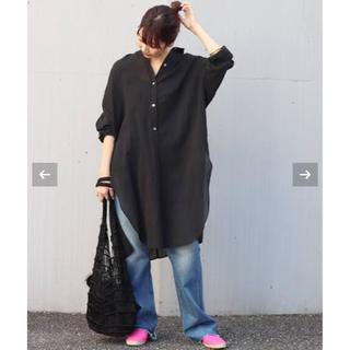Plage - Plage long gather シャツ