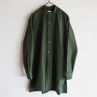 COMOLI - 16ss comoli バンドカラーシャツ グリーン サイズ1