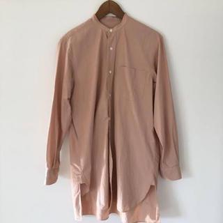 COMOLI - 18ss comoli サイズ2 バンドカラーシャツ サンドピンク