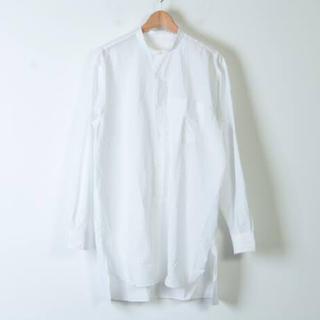 COMOLI - 17ss comoli サイズ2 バンドカラーシャツ ホワイト コモリ