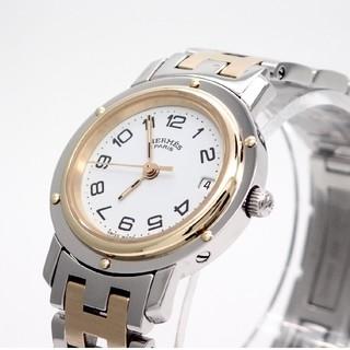 Hermes - 【HERMES】エルメス腕時計 'クリッパー GPコンビ' ホワイト☆美品☆
