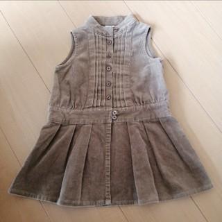 ベビー コールテン生地ジャンパースカート 90cm(ワンピース)