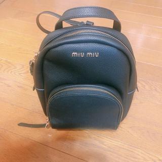 ミュウミュウ(miumiu)のmiumiuリュック(リュック/バックパック)