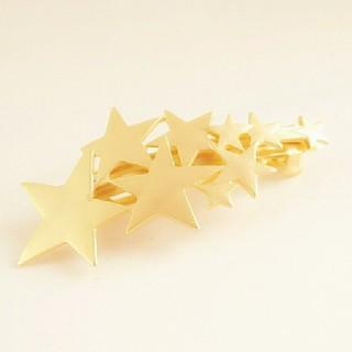 [残り一点]流れ星のオシャレなバレッタ☆ゴールド(バレッタ/ヘアクリップ)