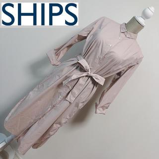 SHIPS - シップス シャツワンピース ピンク