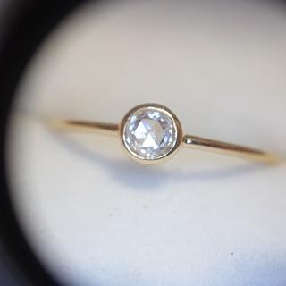 Dはちみつ様専用 オレフィーチェ ローズカット ダイヤ リング k18(リング(指輪))