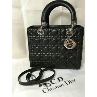 Christian Dior - レディディオール ブラック ミディアム 一度仕様の美品