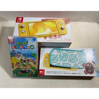 ニンテンドースイッチ(Nintendo Switch)の新品 ニンテンドースイッチライト 本体 あつまれどうぶつの森 セット(家庭用ゲーム機本体)