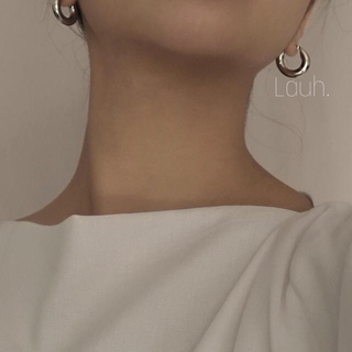 エストネーション(ESTNATION)のj5.chunky hoop pierce(silver)(ピアス)