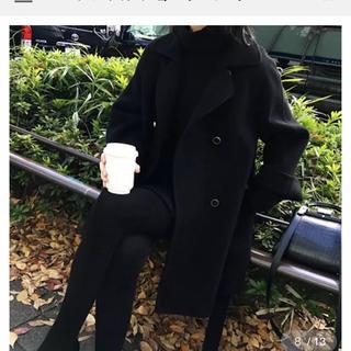 ブラック 短め丈コート