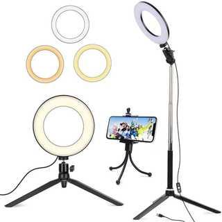 LED 自撮りライト 撮影用 照明 リングライト外径15.2cm