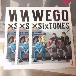 WEGO - 送料無料!!WEGO×SixTONES コラボポストカード
