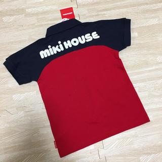 mikihouse - 新品☆ミキハウス ポロシャツ バックロゴ ネイビー レッド 110